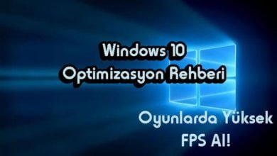 Windows 10 Optimizasyon